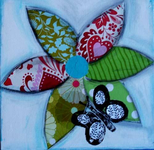Augenreisen - Blume mit Schmetterling