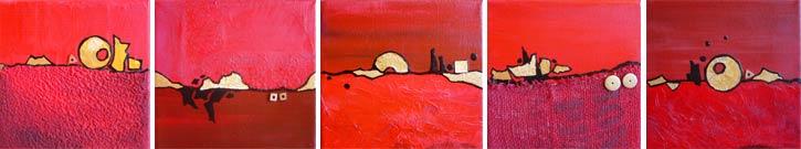 Augenreisen - Rote Landschaft